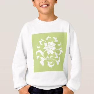 Oriental Flower - Daiquiri Green Circular Pattern Sweatshirt