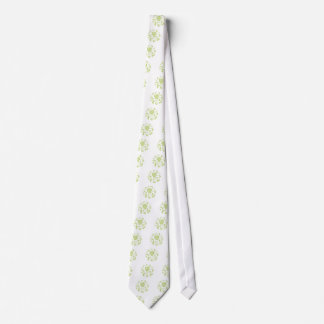 Oriental Flower - Daiquiri Green Circular Pattern Tie