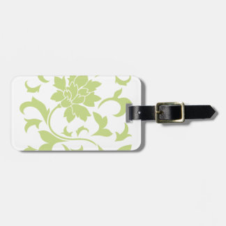 Oriental Flower - Daiquiri Green Luggage Tag