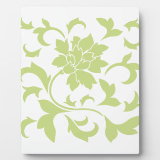 Oriental Flower - Daiquiri Green Plaque