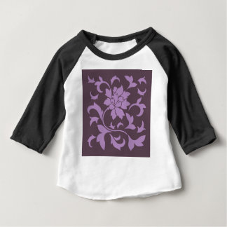Oriental Flower - Lilac & Cherry Chocolate Baby T-Shirt
