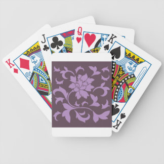 Oriental Flower - Lilac & Cherry Chocolate Bicycle Playing Cards