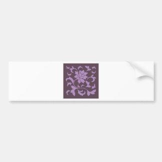 Oriental Flower - Lilac & Cherry Chocolate Bumper Sticker