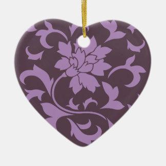 Oriental Flower - Lilac & Cherry Chocolate Ceramic Ornament