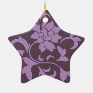 Oriental Flower - Lilac & Cherry Chocolate Ceramic Ornament