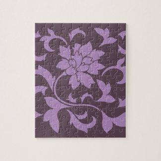 Oriental Flower - Lilac & Cherry Chocolate Jigsaw Puzzle