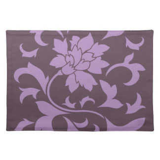 Oriental Flower - Lilac & Cherry Chocolate Placemat