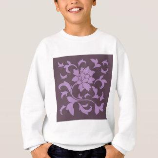 Oriental Flower - Lilac & Cherry Chocolate Sweatshirt