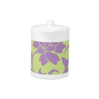 Oriental Flower - Lilac & Daiquiri Green