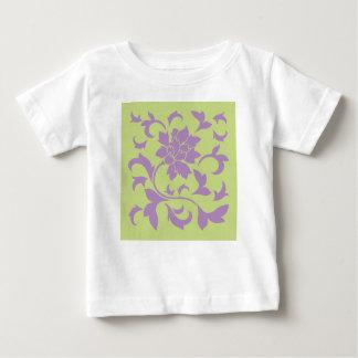 Oriental Flower - Lilac & Daiquiri Green Baby T-Shirt