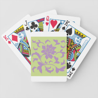 Oriental Flower - Lilac & Daiquiri Green Bicycle Playing Cards