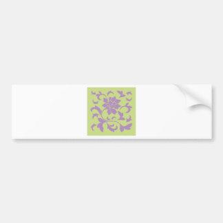 Oriental Flower - Lilac & Daiquiri Green Bumper Sticker