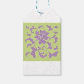 Oriental Flower - Lilac & Daiquiri Green Gift Tags
