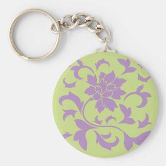 Oriental Flower - Lilac & Daiquiri Green Keychain
