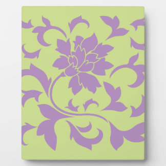 Oriental Flower - Lilac & Daiquiri Green Plaque