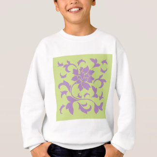 Oriental Flower - Lilac & Daiquiri Green Sweatshirt