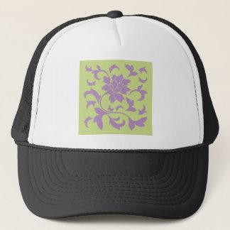 Oriental Flower - Lilac & Daiquiri Green Trucker Hat
