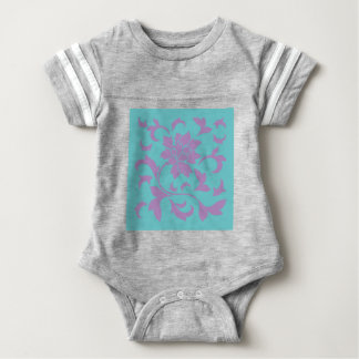 Oriental Flower - Lilac Mint Baby Bodysuit