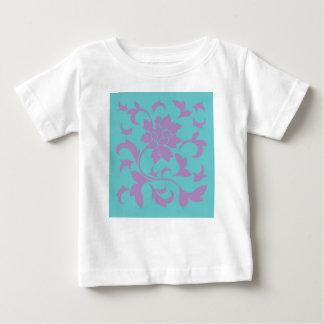 Oriental Flower - Lilac Mint Baby T-Shirt