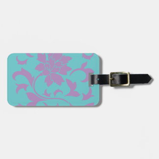 Oriental Flower - Lilac Mint Bag Tag