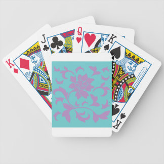Oriental Flower - Lilac Mint Bicycle Playing Cards