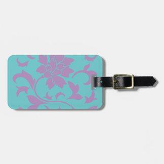 Oriental Flower - Lilac Mint Luggage Tag