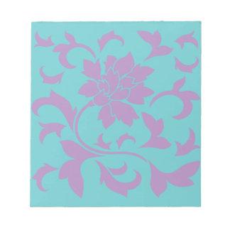 Oriental Flower - Lilac Mint Notepad