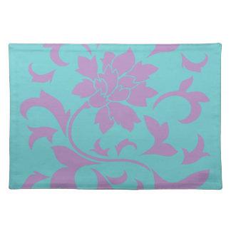 Oriental Flower - Lilac Mint Placemat