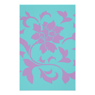 Oriental Flower - Lilac Mint Stationery