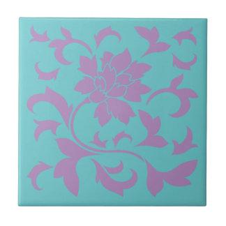 Oriental Flower - Lilac Mint Tile
