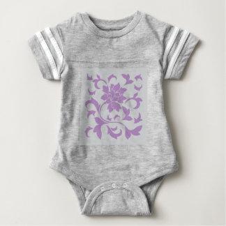 Oriental Flower - Lilac Silver Baby Bodysuit