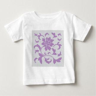 Oriental Flower - Lilac Silver Baby T-Shirt
