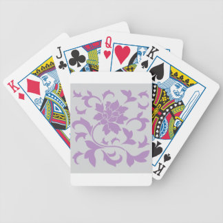 Oriental Flower - Lilac Silver Bicycle Playing Cards
