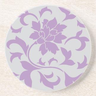 Oriental Flower - Lilac Silver Coaster