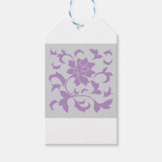 Oriental Flower - Lilac Silver Gift Tags