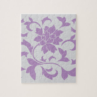 Oriental Flower - Lilac Silver Jigsaw Puzzle