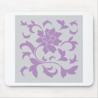 Oriental Flower - Lilac Silver Mouse Pad