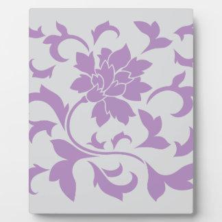 Oriental Flower - Lilac Silver Plaque