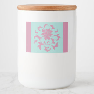 Oriental Flower - Limpet Shell Circular Food Label