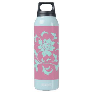 Oriental Flower - Limpet Shell Circular Insulated Water Bottle