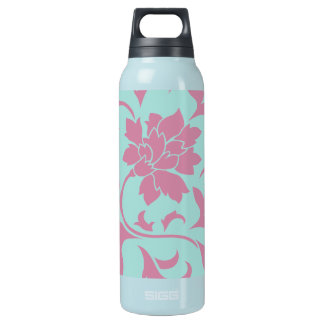 Oriental Flower - Limpet Shell Circular Insulated Water Bottle