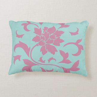 Oriental Flower - Limpet Shell Circular Pattern Accent Pillow