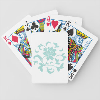 Oriental Flower - Limpet Shell Circular Pattern Bicycle Playing Cards