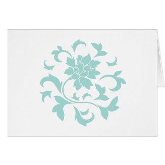 Oriental Flower - Limpet Shell Circular Pattern Card