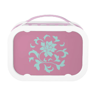Oriental Flower - Limpet Shell Circular Pattern Lunch Box