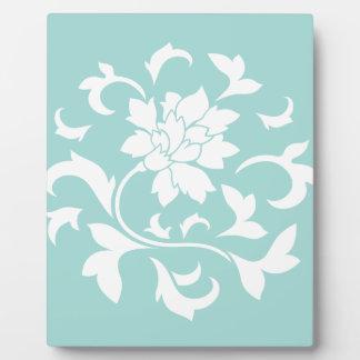 Oriental Flower - Limpet Shell Circular Pattern Plaque