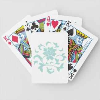 Oriental Flower - Limpet Shell Circular Pattern Poker Deck