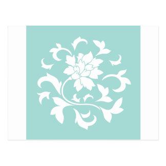 Oriental Flower - Limpet Shell Circular Pattern Postcard