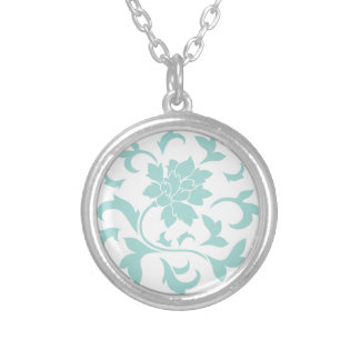 Oriental Flower - Limpet Shell Circular Pattern Silver Plated Necklace