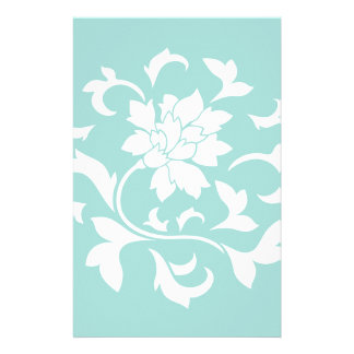 Oriental Flower - Limpet Shell Circular Pattern Stationery